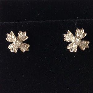 925 Silver Synthetic Diamond Stud Earrings